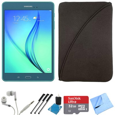 Galaxy Tab A 9.7-Inch Tablet (16 GB, Smoky Blue) 32GB Memory Card Bundle