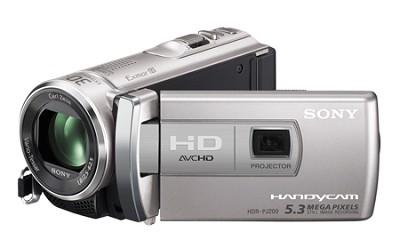 HDR-PJ200/S 5.3 MP Stills 25x Optical HD Projector (Silver) - OPEN BOX
