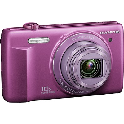 VR-340 16MP 10x Opt Zoom 3-inch LCD Digital Camera - Purple