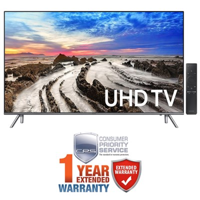 55` 4K UHD Smart LED TV (2017 Model) + Extended 1 Year Warranty Bundle