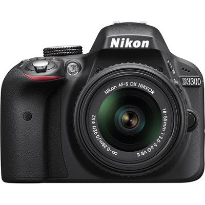 D3300 24.2MP 1080p Digital SLR Camera w/ 18-55mm VR II Lens (Black) Refurbished