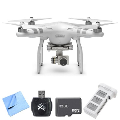 Phantom 3 Advanced Quadcopter Drone with 2.7K Camera High Flyer Bundle