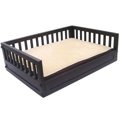Small Bunk Pet Bed Dog Bed in Espresso - EHHB102S