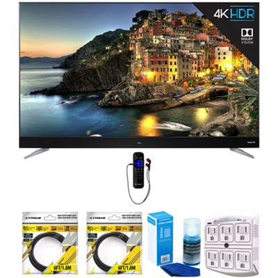 55` 4K UHD Dolby Vision Roku Smart LED TV w/ WiFi (2017) w/ Cleaning Bundle