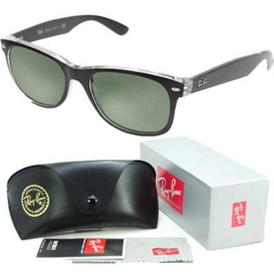 New Wayfarer Classic Sunglasses Black/Transparent 55mm