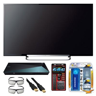 KDL-50R550A 50` 120Hz 3D WiFi 1080p LED HDTV and 3D Blu-ray Disc Player Bundle