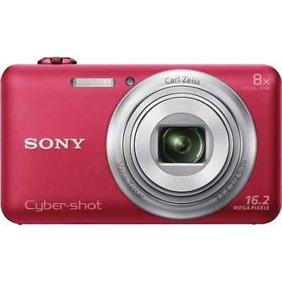 DSC-WX80 16 MP 2.7-Inch LCD Digital Camera - Red - OPEN BOX