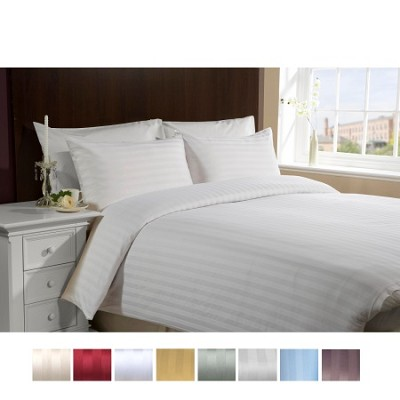 Luxury Sateen Ultra Soft 4 Piece Bed Sheet Set FULL-WHITE