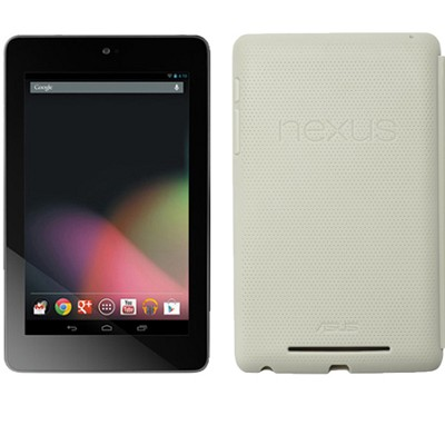 Google Nexus 7 ASUS-1B32 32GB Tablet + Original Nexus Case (Light Gray)