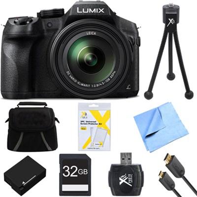 DMC-FZ300K LUMIX FZ300 4K 24X F2.8 Long Zoom Digital Camera Black Deluxe Bundle
