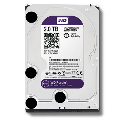 Purple WD20PURX 2TB Surveillance 3.5` Internal Hard Drive