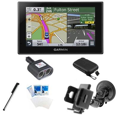 nuvi 2539LMT Advanced Series 5` GPS Navigation System Lifetime Maps Mount Bundle