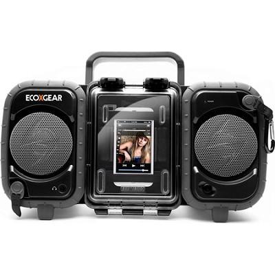 GDI-AQ2SI60 ECOXGEAR Rugged and Waterproof Stereo Boombox - Black