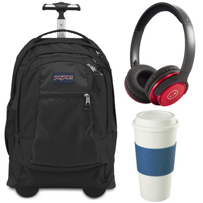 Backpack Travel Essential Bundle - Black/Blue/Red