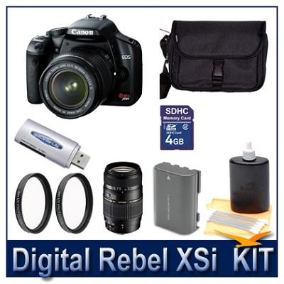Rebel XSI DSLR Dual Lens (18-55 & 70-300) Ultimate Bundle