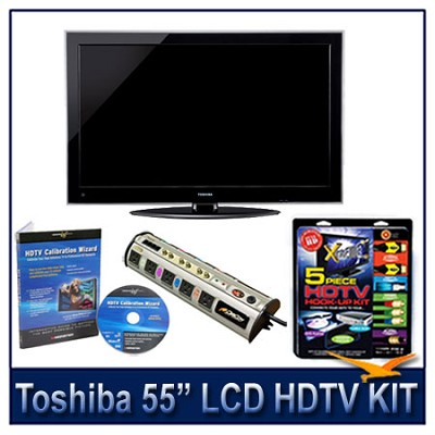 55` 1080p LED HDTV w/ Net TV + Hook-Up + Power Protection + Calibration DVD