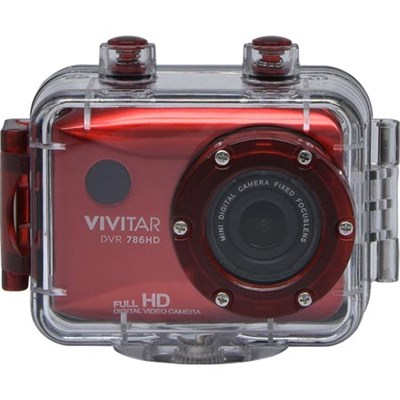 HD Action Waterproof Camera / Camcorder - Red DVR786HD-RED