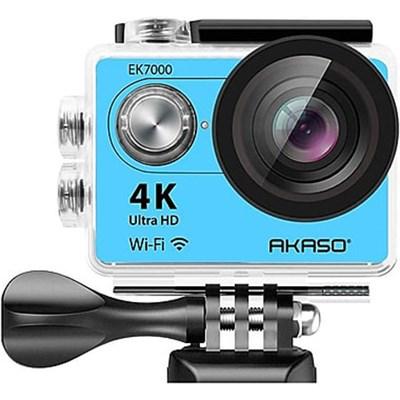 EK7000 Ultra HD 4k WIFI 170 Degree Wide Waterproof Sports Action Camera - Blue