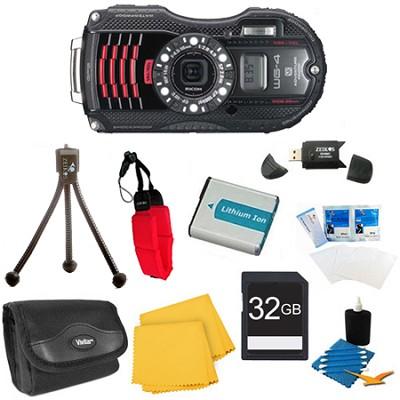 WG-4 GPS 16MP HD 1080p Waterproof Digital Camera Black 32GB Kit