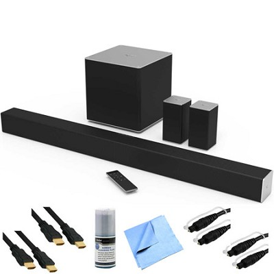 SB4051-C0 - 40` 5.1ch Sound Bar w/ Wireless Sub & Rear Speakers + Hook-Up Bundle
