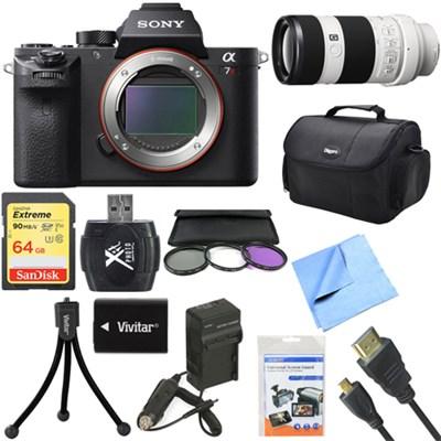 a7R II Full-frame Mirrorless Interchangeable 42.4MP Camera 70-200mm Lens Bundle