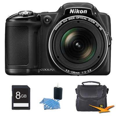 COOLPIX L830 16MP 34x Opt Zoom Digital Camera Black Kit