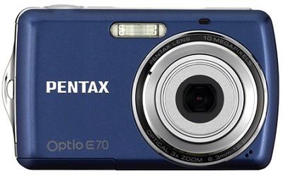 Optio E70 10MP 2.4` LCD Digital Camera (Deep Blue)