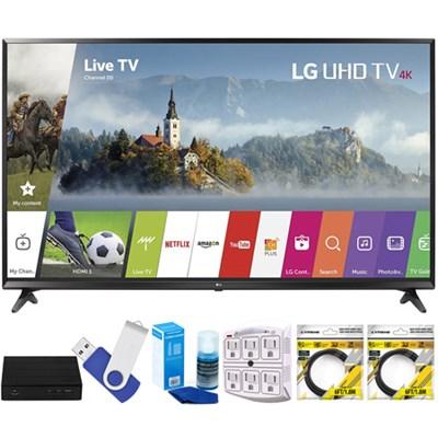 43` UHD 4K HDR Smart LED TV 2017 Model 43UJ6300 with Terk Tuner Bundle