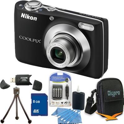 COOLPIX L24 14MP Black Digital Camera 8GB Bundle