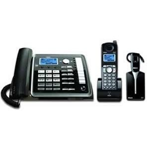 3 Piece Essential Office System - 2-Line Corded Base, DECT 6.0 Cordless Handset