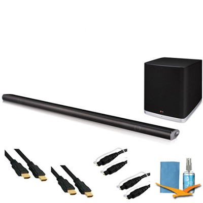 NB5541 - 320W 4.1ch Slim Sound Bar, Wireless Sub/Bluetooth Plus Hook-Up Bundle