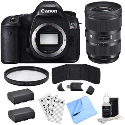 EOS 5DS R 50.6MP Digital SLR Camera (Body Only)& Sigma 24-35mm Lens Power Bundle