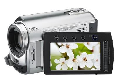 GZMG330  Hard Disk HDD/micro SD Hybrid Camcorder (Diamond Silver)