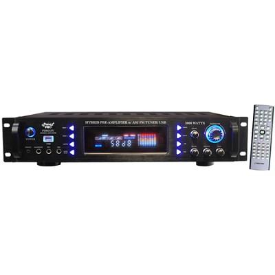 Pro P3201ATU 3000 Watts Hybrid Pre Amplifier with AM/FM Tuner/USB