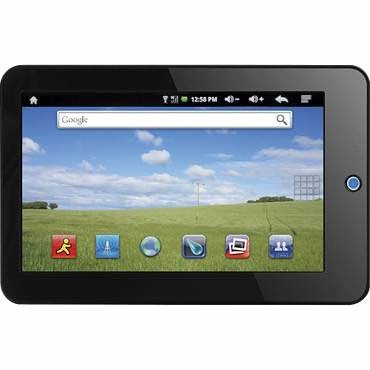 7` Touch Screen eGlide eReader with Android 2.1 with Dual Core Processor
