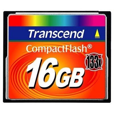 16GB Compact FlashMemory Card 133X { TS16GCF133 }