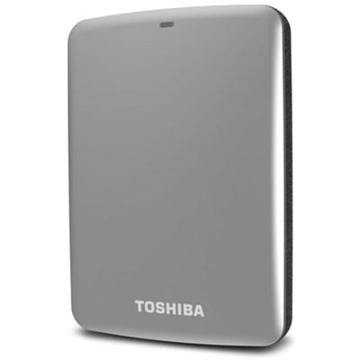 Canvio Connect 1TB Portable Hard Drive, Silver (HDTC710XS3A1)