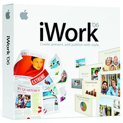 iWork 2006 'Organize-Create-Present and Publish With Style' -OPEN BOX