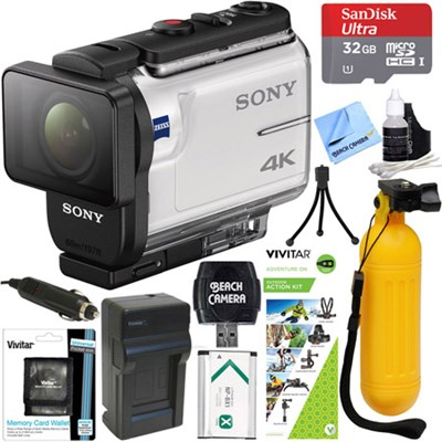 FDR-X3000 4K Action Camera w/ Balanced Optical SteadyShot + Outdoor Action Kit