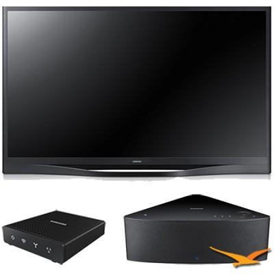 PN64F8500 - 64` 1080p 3D Wifi Plasma HDTV with SHAPE Audio Bundle - Black