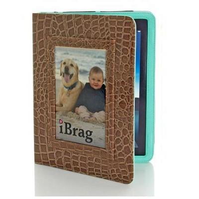 Wet Croco iBrag iPad Case (Cocoa/Aqua)