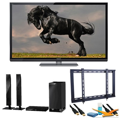 55` TC-P55GT50 SMART VIERA 3D FULL HD (1080p) Plasma TV Speaker Bundle