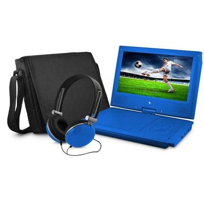 9` DVD Blue Player Bundle with Matching Headphones and Bag - EPD909BU