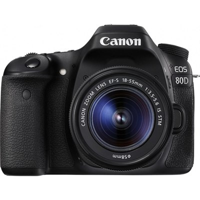 EOS 80D 24.2 MP CMOS Digital SLR Camera w/ EF-S 18-55mm f/3.5-5.6 IS STM Lens