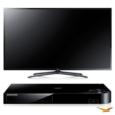 UN75F6400 75` 120hz 1080p 3D Smart WiFi Slim LED HDTV and Blu-ray Bundle