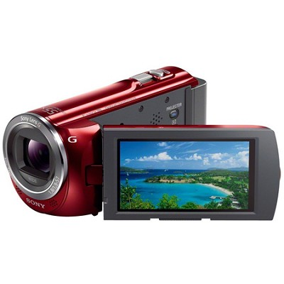 HDR-PJ380/R 16GB Full HD Camcorder with Projector (Red)  - OPEN BOX