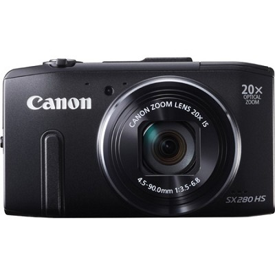 PowerShot SX280 HS Black Digital Camera with 20x Opt. Zoom, 1080p Video, Wi-Fi