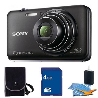 Cyber-shot DSC-WX9 Black Digital Camera 4GB Bundle