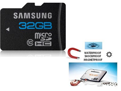 microSD High Speed 32GB Class 10 Waterproof and Shockproof Memory Card OPEN BOX