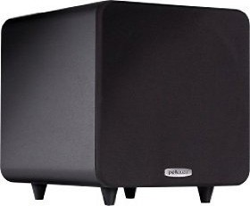 PSW111 Compact Powered 8-Inch Subwoofer (Single, Black)
